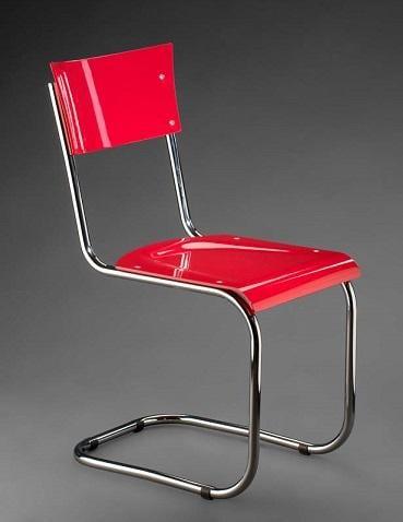 Trubková židle a polokřeslo