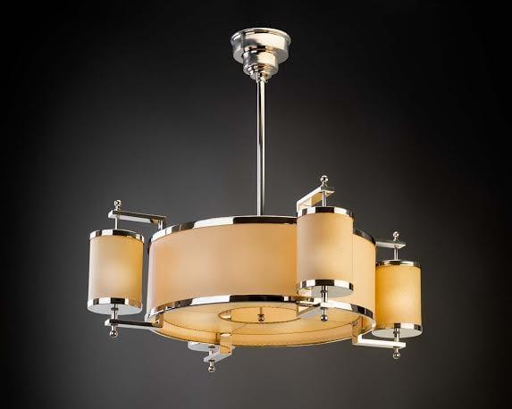 Parchment chandelier