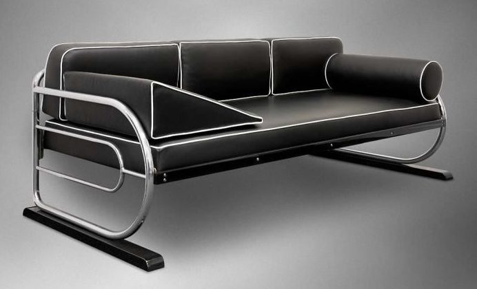 Trubkový gauč